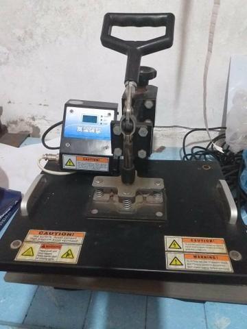 Prensa Térmica pra Sublimação 40x40 8x1, e uma impressora Epson pra tinta sublimática - Foto 5