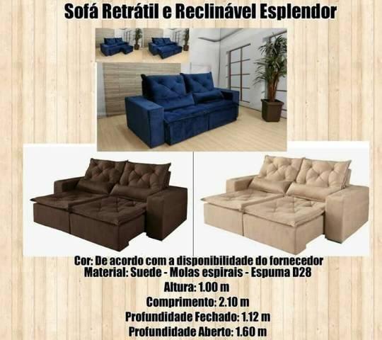 Sofá Retrátil e reclinável Esplendor / Frete Grátis para ...