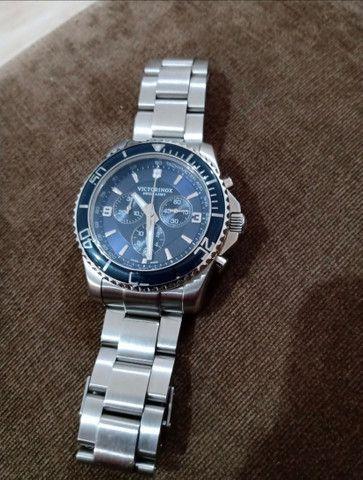 Relógio Victorinox Maverick Cronógrafo Azul - Suíço Quartz - Foto 3