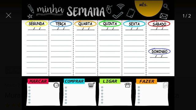Planejador semanal = Organize-se rapido com este planner sensacional - Foto 2