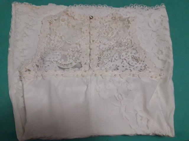 Vestido branco de tule e renda para missa de formatura - Foto 2