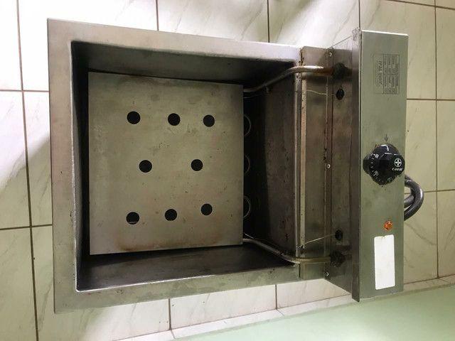 Fritadeira elétrica profissional Água e óleo 18 litros - Foto 3
