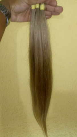 Mega Hair Cabelo Humano Loiro Claro - Foto 3