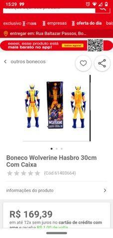 Boneco X-Men ( Wolverine/Logan)lacrado
