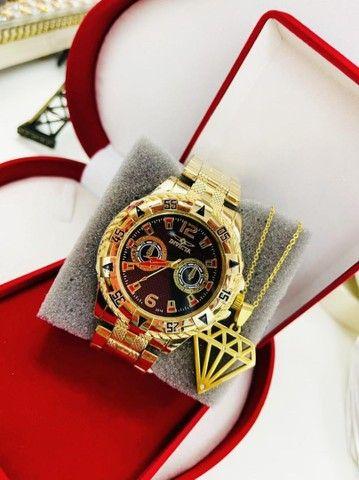 Relógio masculino com acessórios - Foto 2