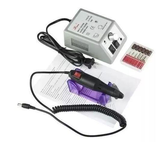Lixa de Unha Elétrica com Motor + Kit de Lixas_ B07