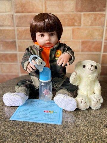 Bebê Reborn Menino Todo em Silicone realista Novo Original (aceito cartão )