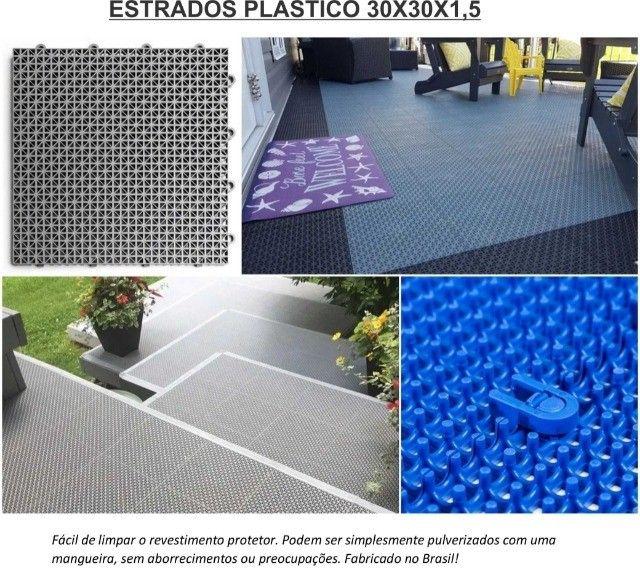 Piso estrado plástico 30x30 - Foto 2