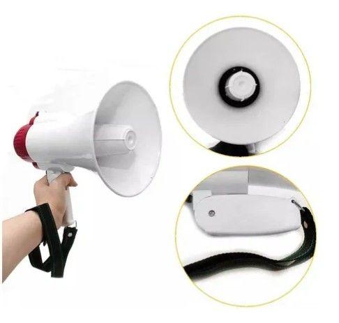 Megafone portátil com microfone e sirene musical - Foto 3
