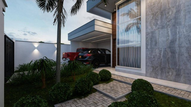 Excelente casa nova alto padrão com 3 suítes, sendo 1 com closet na 505 sul - Foto 2