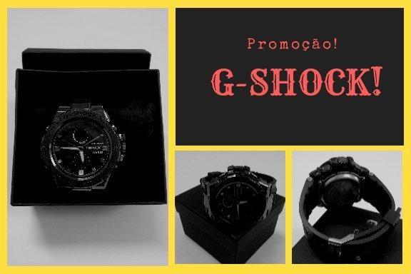 eaf40ffb4b7 Relógio g-shock mod.analogico e digital caixa de aço escovado ...
