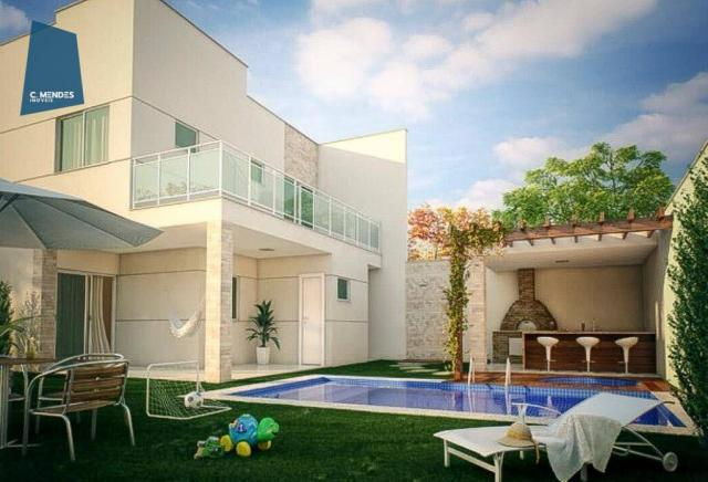 Casa à venda, 205 m² ou 213 m², 3 ou 4 Suítes, 3 vagas, Sapiranga, Fortaleza.