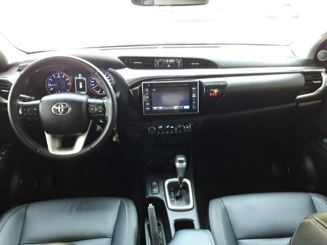 Toyota 2018 Hilux srv 4x4 2.7 Flex Automatico top de linha impecável confira - Foto 8