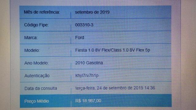 Fiesta 1.0 8v Flex 4p - Troca por Moto - Foto 11