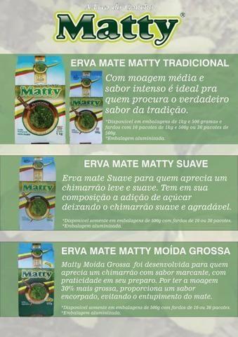 Erva matty 500g tradicional/moida da grossa - Foto 2