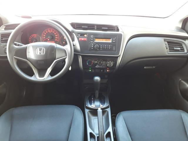 Honda 2015 City 1.5 lx cvt Automatico completo branco confira - Foto 7