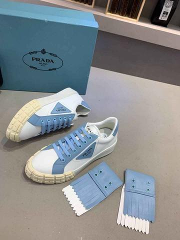 Tênis Prada White Blue - Foto 2