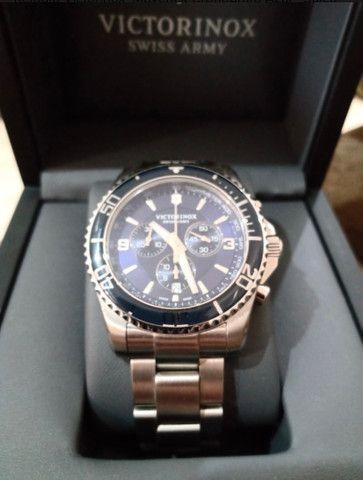 Relógio Victorinox Maverick Cronógrafo Azul - Suíço Quartz - Foto 2
