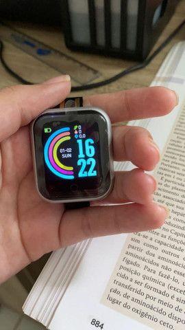 Smartwatch D-20 + pulseira grátis - Foto 4
