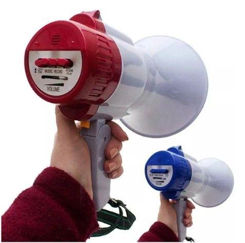 Megafone portátil com microfone e sirene musical - Foto 5