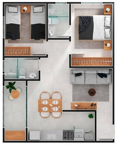 Apartamento com 2 quartos com suite no Cascatinha - Juiz de Fora - MG - Foto 16