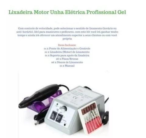 Lixa de Unha Elétrica com Motor + Kit de Lixas_ B07 - Foto 3