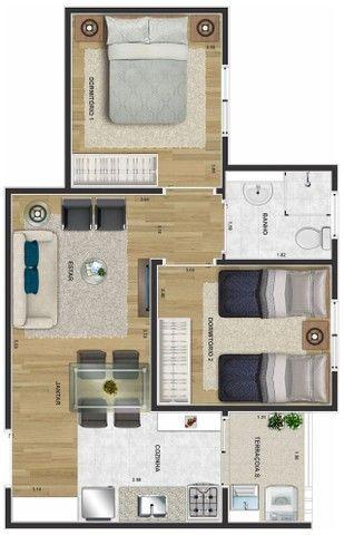 Apartamentos de 2 dormitórios Próximo ao Parque das Águas #ro10 - Foto 4