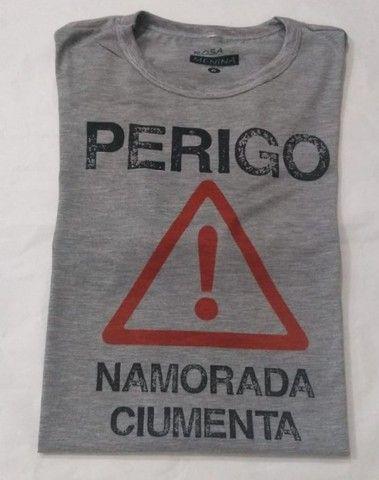 Camisa básica  de malha  namorados  - Foto 4