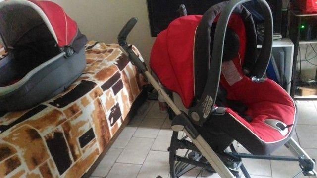 Carrinho de Bebé 3 em 1 Peg Pérego - Carrinho - Moises - Bebe Conforto - Foto 6