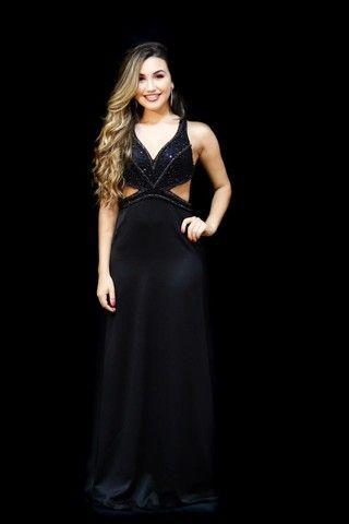 Vestido Dress Crepe acetinado