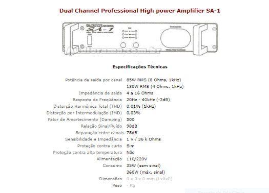 Amplificador cygnus sa-1 - Foto 4