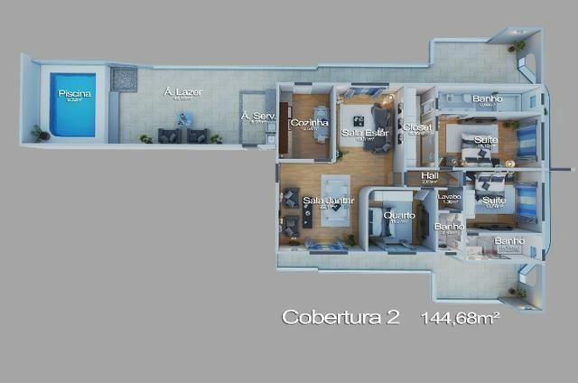 Linda Cobertura Linear 255 M² - 03 Qts Closet, 03 vgs com Elevador Fotos Comparativa ! - Foto 4