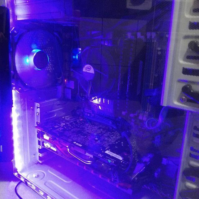 PC Gamer Completo i7 8Gb R7 4Gb SSD 120Gb Teclado Mecânico RGB - Foto 5