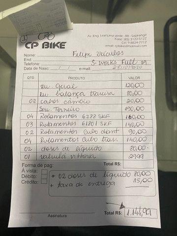 REVISADA!!Bicicleta MTB SPECIALIZED S- WORKS EPIC 29 TAMANHO M FULL - Foto 4