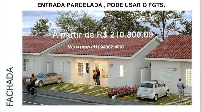 Alta Vista Campo Limpo Pta, casas em condominio , entrada parcelada , pode usar FGTS - Foto 3