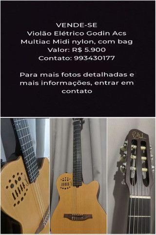 Violão godin acs multiac Midi nylon cor natural madeira - Foto 6