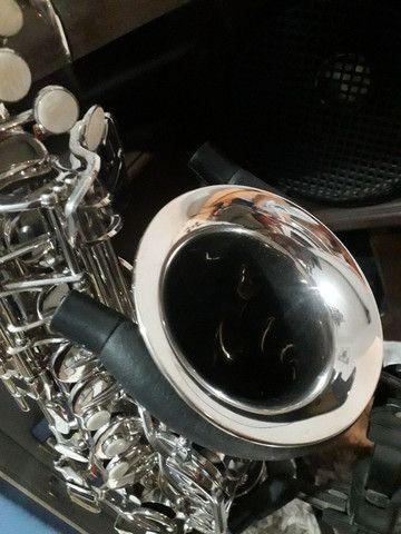 Sax saxofone alto Eagle sa 500 novinho zerado lindo - Foto 3