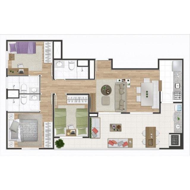 Osasco Bela Vista 56 metros 2 Dormitórios Suíte Varanda Gourmet 1 vaga Pronto para Morar - Foto 14