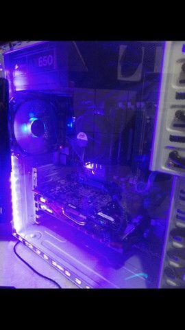 PC Gamer Completo i7 8Gb R7 4Gb SSD 120Gb Teclado Mecânico RGB - Foto 4