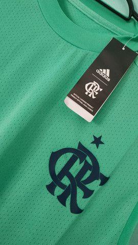 Camiseta do Flamengo Verde Treino Masculina 2020/21 - Foto 2