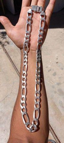 Cordão de prata 3x1 - Foto 2