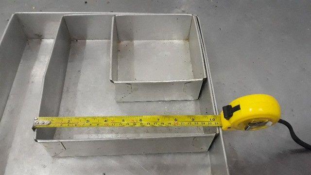 Conjunto de Formas De Bolo Quadrado Alumínio  -Redenção/Ce - Foto 4