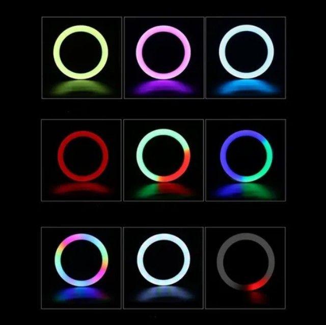Ring Light Colorido + Controle - Aproveite - Foto 2