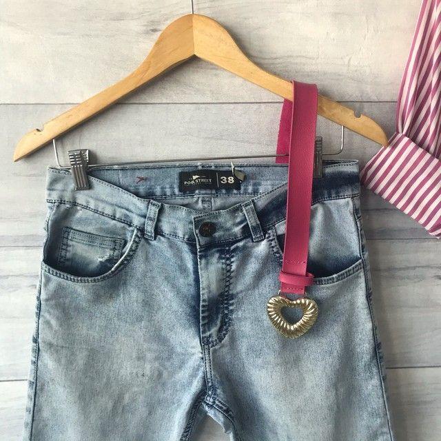 Calça Jeans Clara | Cintura Alta | Seminova | Brechó