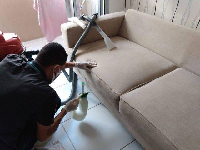 Lavagem a seco. Não deixe a SUJEIRA tomar conta do seu sofá. - Foto 2