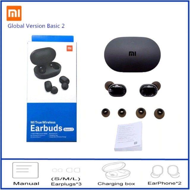 Fone bluetooth 4 Horas de Música!! Xiaomi Redmi Airdots 2!! Original Novo     - Foto 3