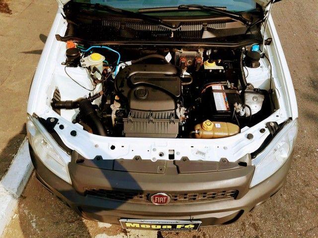 Fiat Strada Hard Working 1.4 Flex Branco Completo Com Bau Doc Ok - Foto 4