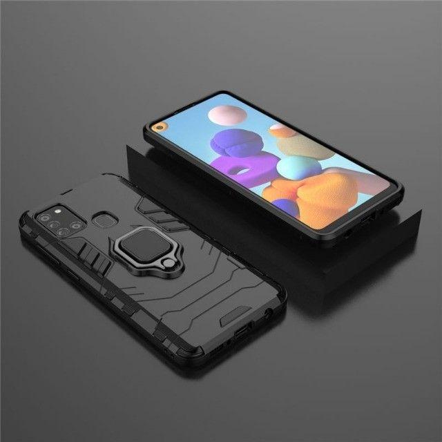 Capa 4 em 1 Anti Impacto Choque Militar Samsung Galaxy A21S, aceito cartão - Foto 4