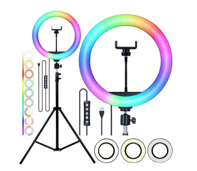 Ring Light Colorido + Controle - Aproveite