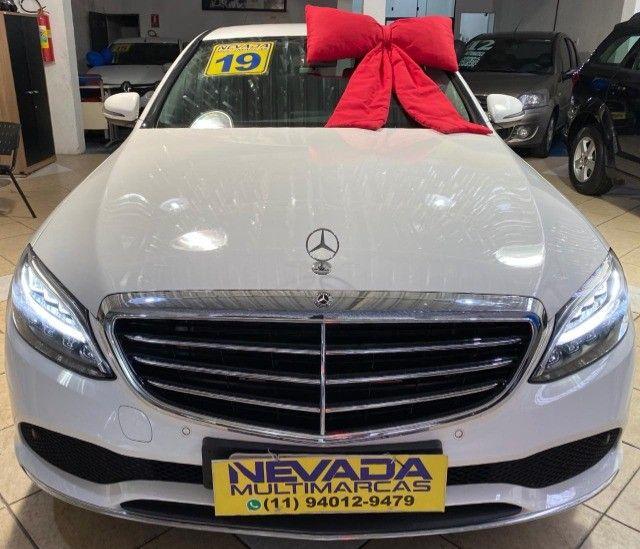 Mercedes Benz C 180 2019 1.6 Gasolina Único Dono Branca Estudo Troca e Financio - Foto 2